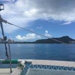 Diamon head view from Maitai catamaran