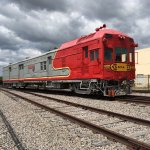 Historic locomotives at the Museum of American Railroad