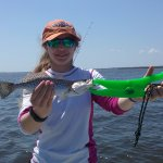 Hannah with a speckled sea trout.
