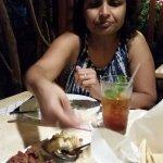Mezze Sampler with cold mint tea