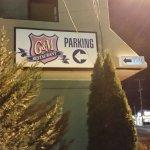 Lounge parking lot sign