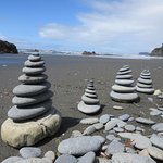 Ruby Beach rock stacking- coolest rocks around all over the beaches!
