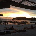 sunset from beach bar