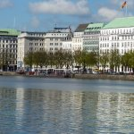 Alster Lake Hotels and shops
