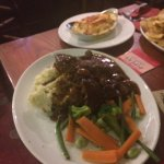 Braised beef with horseradish mash