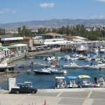 The view of the harbour from Paphos Castle.