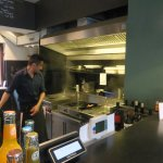 Arbeitsplatz des Kochs