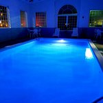 Indoor heated pool w/ LED Lights