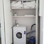 The washing machine.