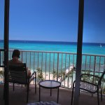 Our oceanfront room balcony. Not too private, but we spent a lot of time there anyway.