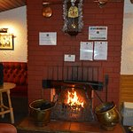 Real Fire in our Bothy Bar