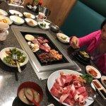 Korean BBQ spread.. yum yum!