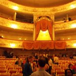 The interior of the Mikhailovsky Opera and Ballet Theater