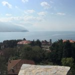 Panoramic view of Lake Ohrid, taken from the battlements of the Fortress