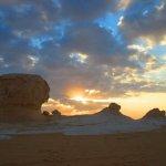 Sunrise in the white desert
