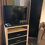 TV, small closet and dresser
