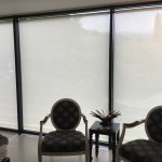 Fully motorized electric blinds for privacy.