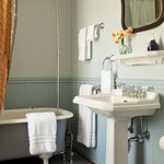 All Rooms have private modernized bathrooms (Georgia Bathroom, Antique Claw-foot tub and shower)