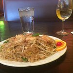 A glass of Riesling and pad Thai was wonderful. If you want spicy ask for country pad Thai, whic