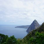 Petit Piton from mid-point on the hike