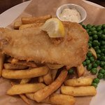 White Fish, Chips and Peas