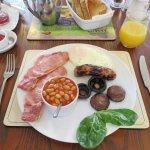 Fabulous Cooked Breakfast - Ty Croeso B&B - Wales (20/Apr/17).