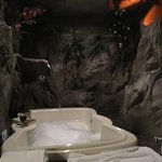 Modern Polynesian King Room - Jacuzzi easily fits two, ledges to hold your drinks and awesome je