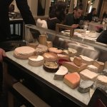 The cheese cart from which we chose (though we opted to have our server choose for us)