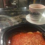 lasagna and espresso