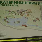 Map of Catherine Palace and the Park