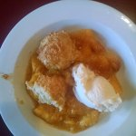 Peach Cobbler, huge portion, peaches from their orchard
