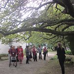 Our guide and group under the oak