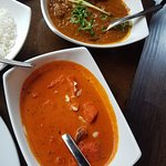 Rogan josh (top) & chicken tikka masala