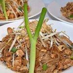 Pad Thai- served with chicken, shrimp or tofu (vegan or vegetarian)