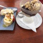 Pavlova and Icecream sundae