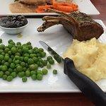 lamb rack with veggies