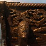 Wooden carving on the ship