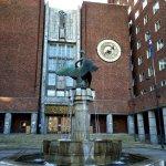 Swan Fountain and clock