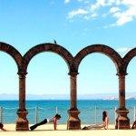 "Puerto Vallarta's historic landmark ""Los Arcos"" in the Malecon (boardwalk)"