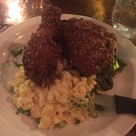 Fried Chicken - Jalapeno Mac & Cheese with Collared Greens - Chicken was done perfectly