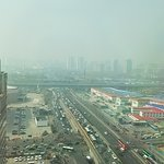 Typical Beijing smog, but otherwise nice view from the 19th floor!