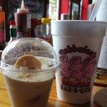drink and bannan pudding