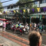 Songkran Festival right out front!