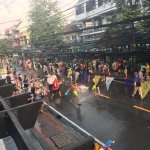 View of Songkran Water fighting from roof top bar!