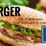 20% of all Burgers on Tuesday Nights
