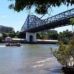 Underneath 500yr old Story Bridge-Brisbane city