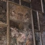 These old frescoes have been restored but are still deteriorating.