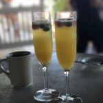 endless mimosas with berries on top, mimosa lady was super nice!