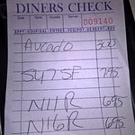 My bill for 3 people. Prices are reasonable. Food is very good!!
