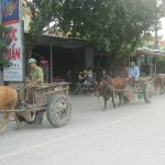 local villagers with their carts